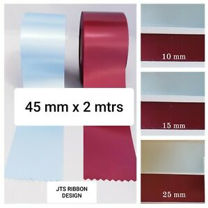 Claret and Blue Football Satin Ribbon Cake Decoration or Gift Wrap 2m of each