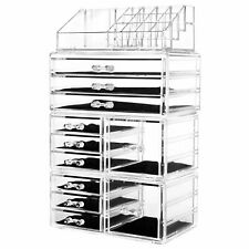 hblife Acrylic Jewelry and Cosmetic Storage Drawers Display Makeup Organizer .