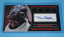 STAR WARS TOPPS RETURN OF THE JEDI 3D WIDEVISION ADMIRAL ACKBAR AUTOGRAPH CARD