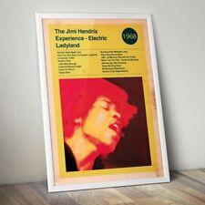 More details for jimi hendrix art print, hendrix print, rock band poster, electric ladyland print