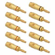 10x Bananenstecker Lautsprecher Boxen Stecker Schraubbar Hifi 24K Gold High End