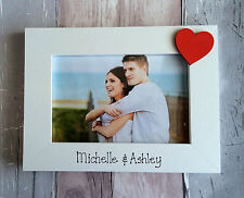 Handcrafted Personalised Valentine Love Heart Picture Photo Frame Gift Present
