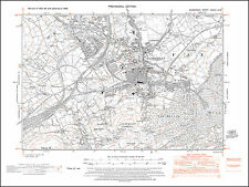 Caerphilly, old map Glamorgan 1948: 37NW repro Wales
