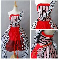 Tim Burton Alice In Wonderland Cosplay Red Court Ball Gown Party Dress Halloween