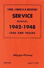 1942-1946-1947 1948 Ford Shop Manual Car and Pickup Truck Repair Service
