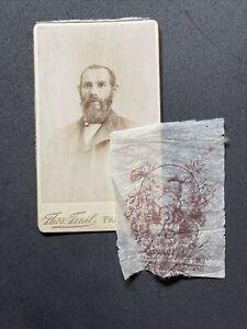 Victorian CDV: Gentleman: Loose Fancy Tissue Lady: Trail Fraserburgh 1 Of 3