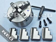 4-Backenfutter 125 mm für zylindrische Aufnahme zentrisch spannend NEU