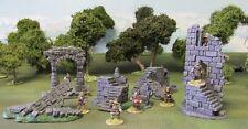 """28MM exquisitamente pintado 'Castillo Battlement ruinas Set"""""""
