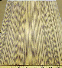 "Zebrawood wood veneer panel 3/4"" x 9"" x 11"" on plywood with Okuome wood backing"