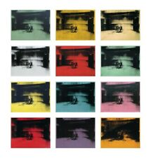 ANDY WARHOL - Twelve Electric Chairs 1964/65 ART PRINT 44x42 Oversize Poster