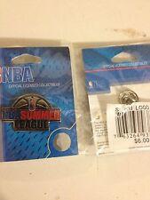 2 NBA Basketball Summer League Collectable Pins. aminco brand. New Nice!