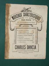 Partition Violon acc. Piano Romance et Boléro Charles DANCLA