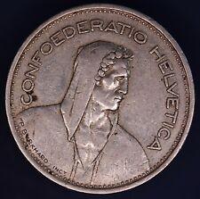 1953 Swiss Switzerland 5 Franc coin, 83.5% silver *[15102]