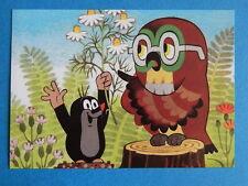 Postkarte KLEINE MAULWURF PAULI  mit Uhu und Kamille NEU AK PK  Zdenek  Miler