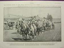 1900 VICTORIAN BOER WAR PRINT ~ LORD ROBERTS & SOLDIERS OF QUEEN INTO PRETORIA