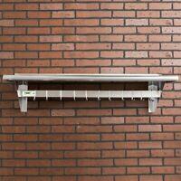 "15"" x 48"" Stainless Steel Wall Pot Pan Rack Shelf Commercial Restaurant Kitchen"
