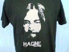 John Lennon Silhouette Black XL T-Shirt Imagine Cotton