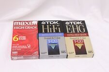 TDK E-HG & Hi-Fi Blank VHS Tapes T-120 + Maxell High Grade - Lot of 3 - Sealed