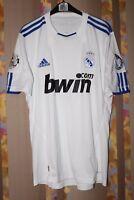 REAL MADRID SPAIN 2010/2011 HOME FOOTBALL SHIRT JERSEY CAMISETA ADIDAS SIZE M