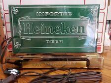 Heineken Imported Lighted Beer on Drought Register Sign United
