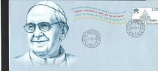 Vatican 2014 Postal Stationary w/Portrait of Pope Francis FDC