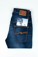 29831 Nudie Jean Mince Finn Cassé Orange Bleu Hommes Jean En Taille 30/32 (W29)