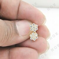 1.70 Ct Round Cut Diamond 14k Yellow Gold Finish Cluster Stud Earrings