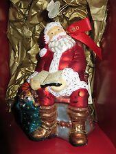 Waterford Holiday Heirlooms 2004 Break Time For Santa Numbered 1254/5000 *Nib*