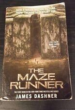 The Maze Runner book 1 in series, James Dashner, movie tie in, tradeback