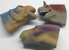McDonalds Happy Meal Dinosaur Head Hand Puppets 2000 Set Lot 3 Disney Kids Toys