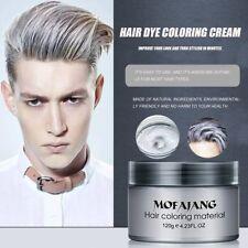 Hot Silver Colour Grey Hair Wax Men Women Grandma Hair Ash Dye Gray Mud