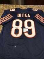 Mike Ditka Autographed Custom Navy Blue Jersey Beckett COA Chicago Bears HOF