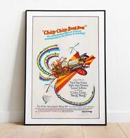 Vintage Movie Poster, Chitty Chitty Bang Bang Poster, Vintage Movie Poster,