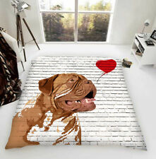 Dogue De Bordeaux Banksy Luxury Fleece Blanket Dog Lovers Gift UK Made Exclusive