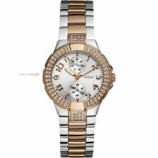 GUESS WOMENS SWAROVSKI MINI PRISM TWO TONE GOLD WATCH- W15072L2