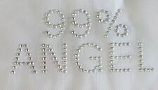 "R0003 Rhinestone/Studs Iron On Transfer HOT FIX 4-5/8""x2"" 99% Angel"