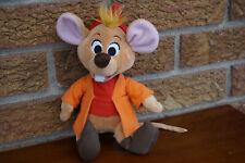 "PLUSH Disney Collection JAQ Cinderella Orange Coat Mouse 8"" Doll Stuffed Animal"