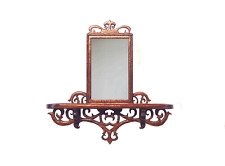 Dollhouse Miniature 1:24 Rosewood Fretwork Mirror - Artisan  Made Furniture