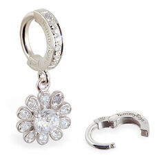 TummyToys Silver CZ Flower Belly Button Ring treat your Navel to Something Speci