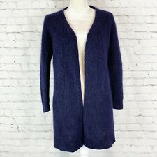 COS Collection Of Style Womens XS Navy Mohair & Wool Open Front Cardigan Sweater