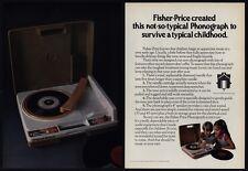 1979 FISHER PRICE Phonograph Record Player VINTAGE MAGAZINE ADVERTISEMENT