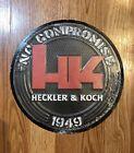 "Heckler & Koch Metal Sign HK Logo Round 12"" Raised Letters VP9 P30 USP HK45 VP40"