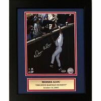 Moises Alou Cubs Autographed Steve Bartman 8x10 Baseball Framed Photo Schwartz