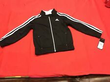 Boy Or Girl Black And White ADIDAS Track Jacket Size Youth 4 NWT