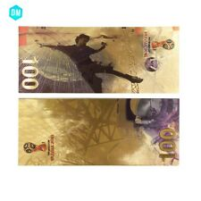 Russian 2018 Colorful Gold Banknote Collectible 100 Ruble Football World Cup