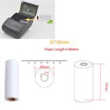 Rollo de papel de recibo térmico 5PCS 57x30mm para impresora móvil POS 58mm PD