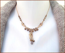 NEW PILGRIM GOLD PLATED CHAIN NECKLACE BEADS SWAROVSKI CRYSTALS ANGEL PENDANT