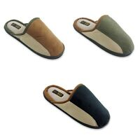New Men's Slide Slippers Faux Suede Cushioned Insole Shoes 3 Colors, Sizes:7-12