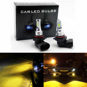 2x 9006 HB4 3000K Yellow 100W High Power 3030 LED Fog Lights Driving Bulb DRL