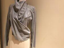 Haider Ackermann GRAY SILVER Bomber Zip Up Jacket Coat Size S